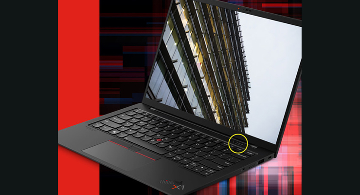 Lenovo Selects Synaptics' Oval Fingerprint Reader for ThinkPad X1 Carbon Gen 9 Power Button