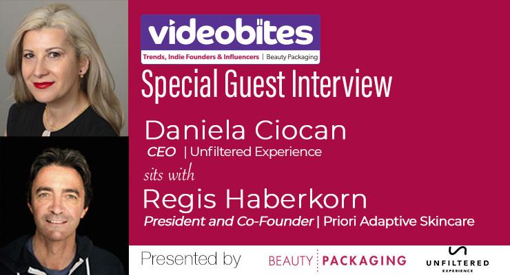 Videobite: Interview with Regis Haberkorn, President and Co-Founder, Priori Adaptive Skincare