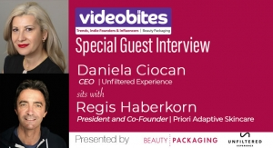 Videobite: Interview with Regis Haberkorn, President and Co-Founder, Priori Adaptive Skincare