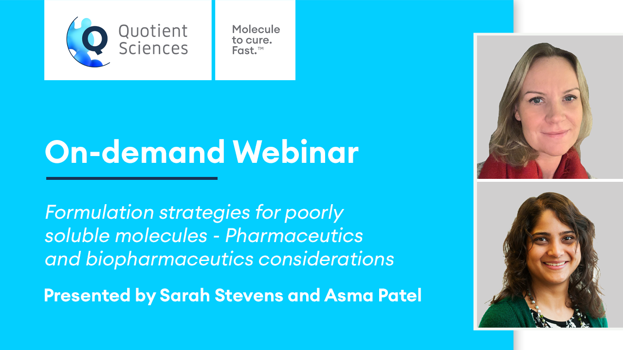 On Demand Webinar - Formulation Strategies for Poorly Soluble Molecules