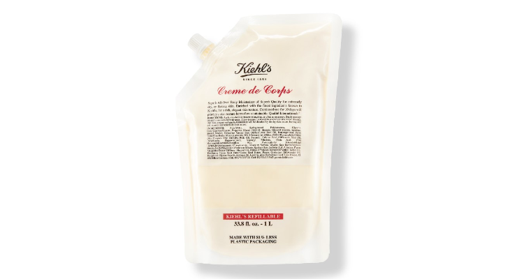 Kiehl's Launches Sustainable Pouch Refillables for Hair Care, Skin Care