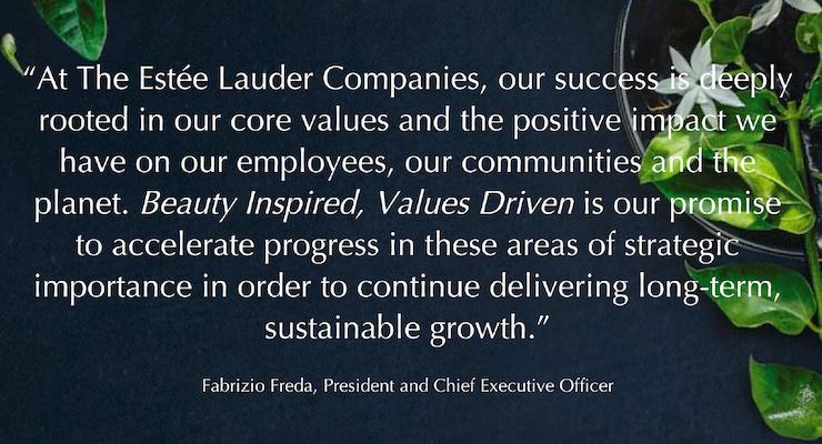 Estée Lauder Companies Reaffirms Sustainability Goals for Earth Month