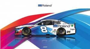 Tyler Reddick Driving Roland-wrapped No. 8 Chevy in NASCAR Cup Series Race