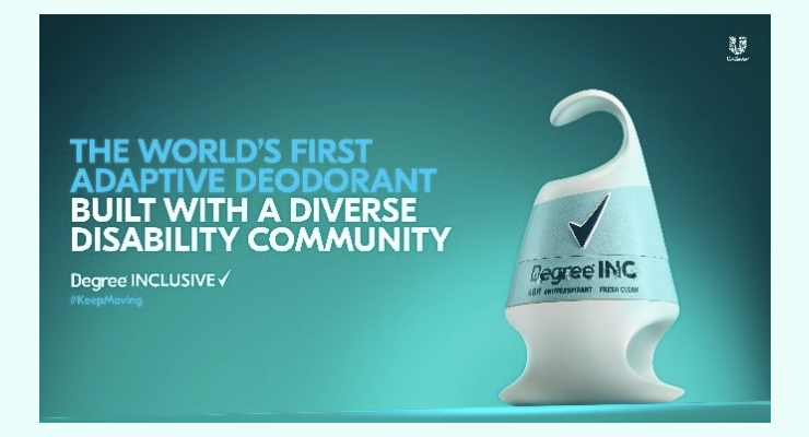 Degree Develops First Inclusive Deodorant for People with Disabilities