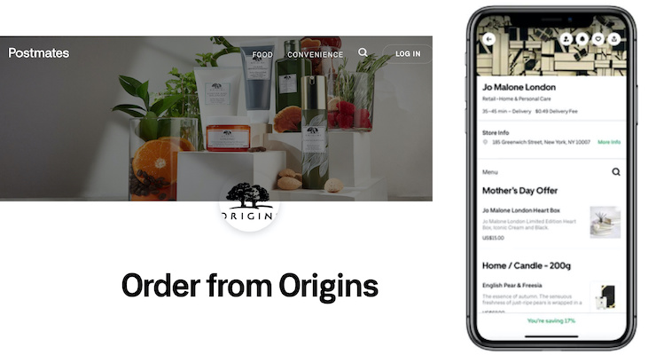 Estee Lauder Brands Available on Uber Eats
