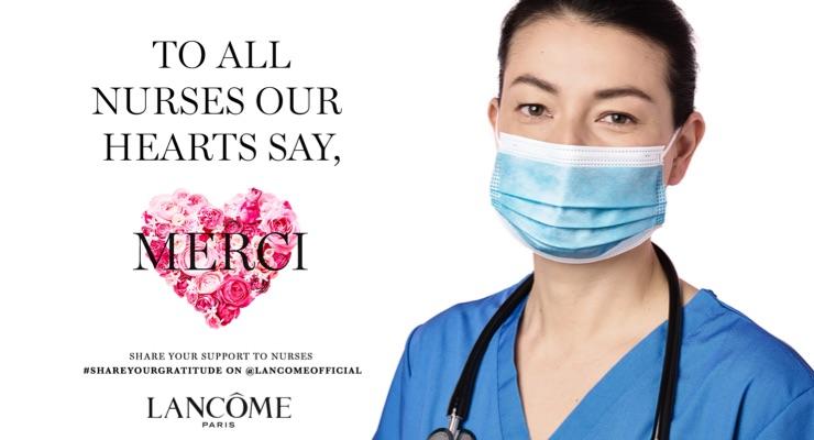 Lancôme Honors Nurses with Care Packs on International Nurses Day