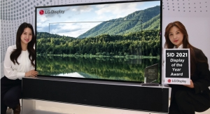 LG Display's 65-inch Rollable OLED TV Wins 'Display of the Year' at SID 2021