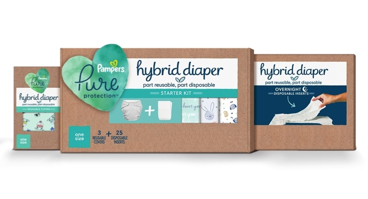 Pampers Launches Hybrid Diaper
