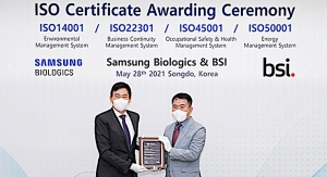 Samsung Biologics Obtains Four Global ISO Certifications