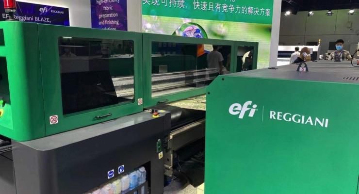 EFI Reggiani Introduces Entry-Level BLAZE Textile Digital Printer