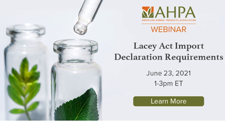 AHPA to Host Webinar on Lacey Import Act Requirements