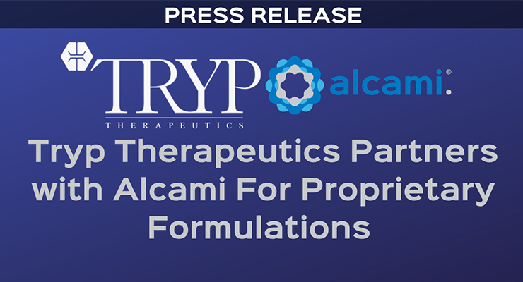 Tryp Therapeutics Partners with Alcami for Proprietary Formulations
