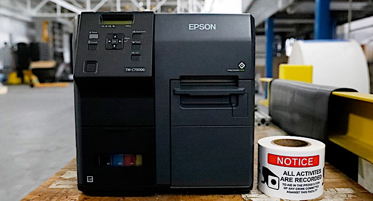Reviewing the Epson C7500G printer