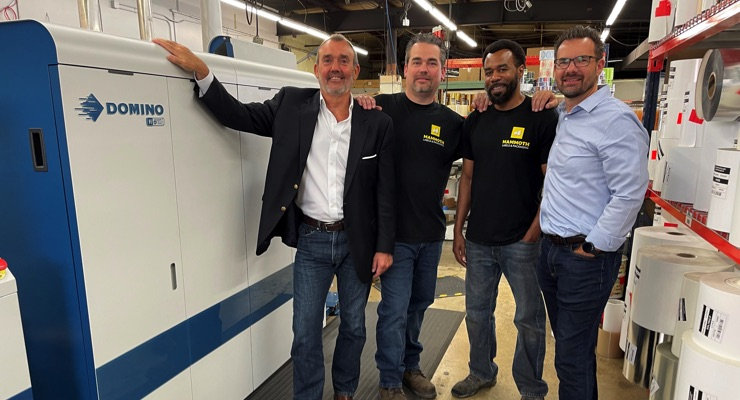Mammoth Labels & Packaging grows with Domino N610i