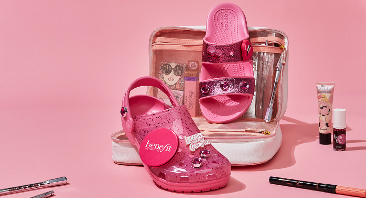 Crocs and Benefit Cosmetics Collaborate on Limited-Edition Pink Crocs