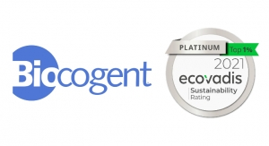 Biocogent Receives EcoVadis Platinum Medal