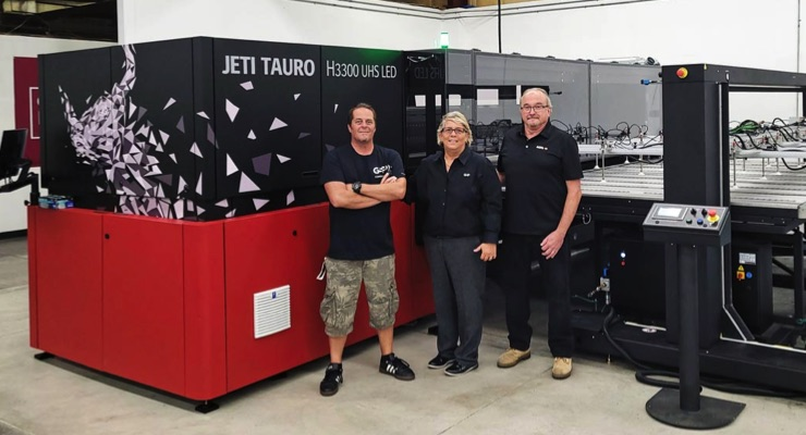 GSP is First in US to Install Agfa's Jeti Tauro H3300 UHS LED Printer