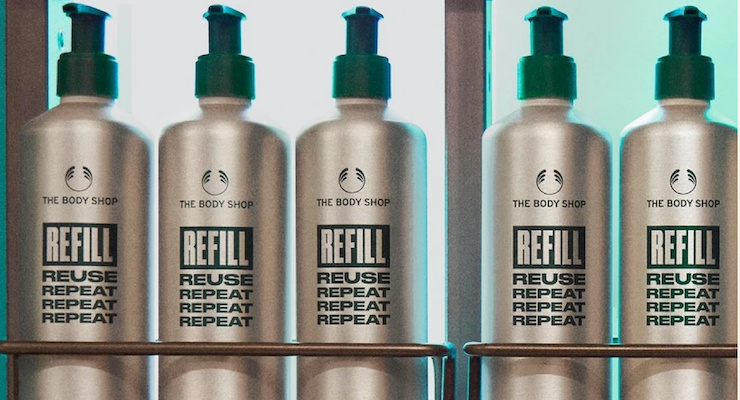 Body Shop Canada Launches Refill Program with Aluminum Bottles