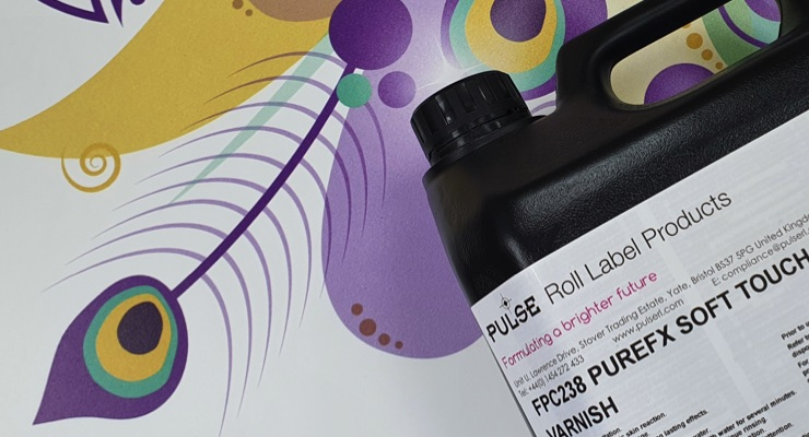 Pulse Roll Label Products launches UV PureFX Soft Touch Varnish