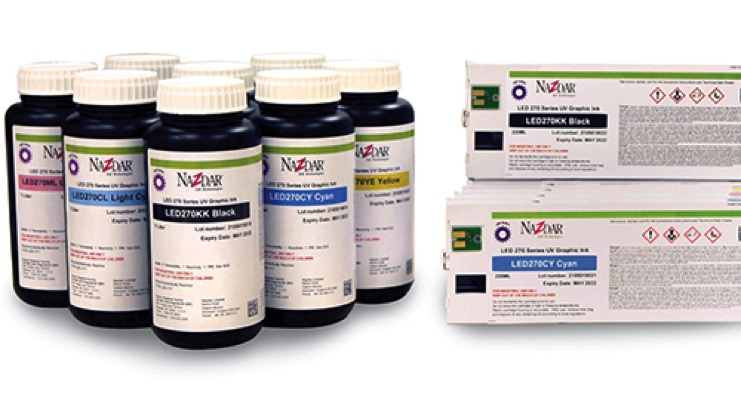 Nazdar 270 Series UV-LED Inks are Now Available Globally