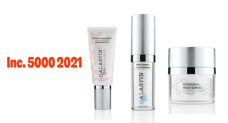 Alastin Skincare Named One of the Fastest-Growing Private Companies in America
