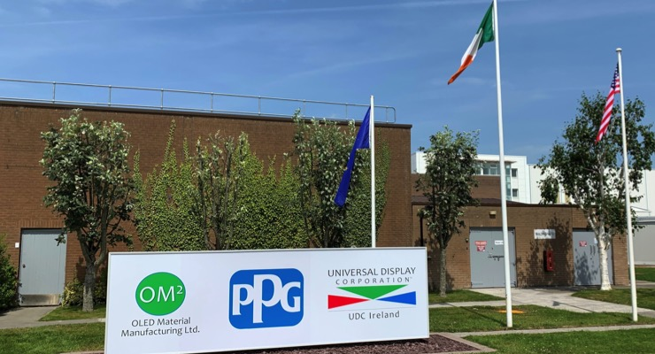 PPG, Universal Display Expand OLED Operations in Ireland