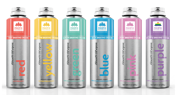 Pacific Shaving Company Launches Colored Shaving Creams that Support Good Causes