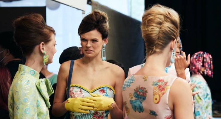 Celebrity Hairstylist Danilo Dixon Creates 90s Looks for Moschino at NYFW with R+Co Products