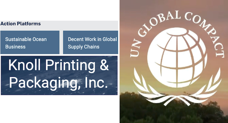 UN Global Compact Names Knoll Printing & Packaging As Global Compact LEAD