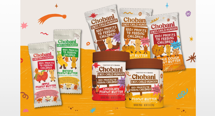Chobani Launches Charitable Peanut Butter Flavored Spreads