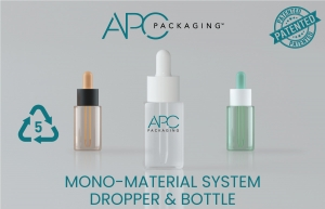 APC Packaging Launches First Sustainable & Patented Mono-Material System Dropper & Bottle