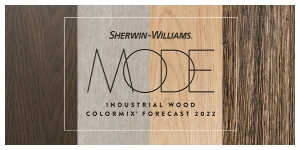 Sherwin-Williams Releases 2022 Colormix Trend Forecast for Industrial Wood Markets