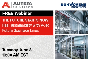 The future starts now! Real sustainability with V-Jet Futura spunlace lines