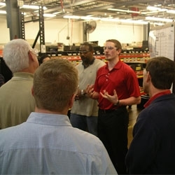 Mark Andy hosts 60 printers for plant tour
