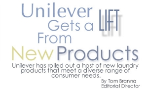 Unilever Gets a Lift from New Products