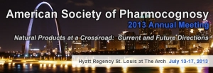 American Society of Pharmacognosy 2013 Annual Meeting