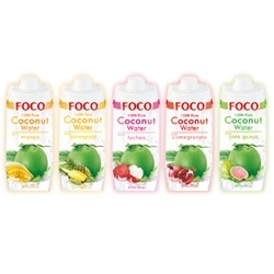 New FOCO 100% Pure Coconut Water Flavors