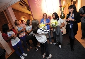 Olympic Moms Celebrate Gold Medal with P&G