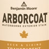Benjamin Moore offers Arborcoat wood stains