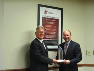 Nubiola USA Distributor of the Year for 2012 Maroon