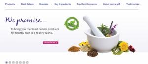 Derma E Redesigns Website
