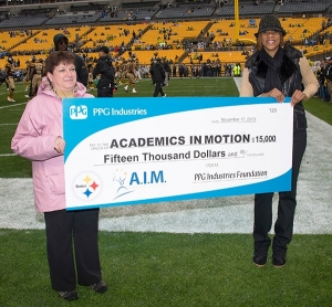 PPG Donates $15,000 to Academics in Motion through Steelers Partnership