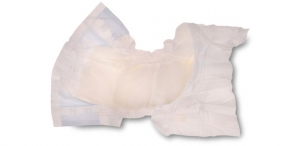 Cotton topsheet developed for diapers