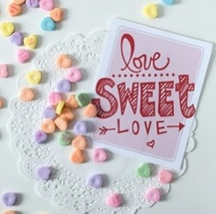 Valentines labels for sweet packaging