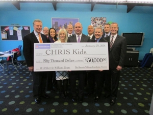 Sherwin-Williams Foundation Awards $50,000 Grant to CHRIS Kids