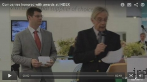 Companies honored with awards at INDEX