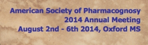 Annual Meeting of the American Society of Pharmacognosy/14th International Conference on the Science