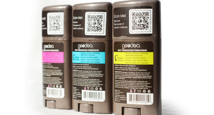 Using a QR Code to Sell Deodorant