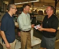 Senate candidate visits Badger Tag & Label