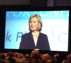 At AdvaMed Meeting, Clinton Says Industry